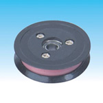 Combined ceramic idler pulley